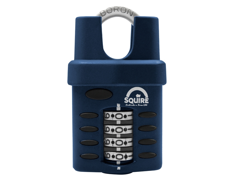 Henry Squire CP40CS Combination Padlock 4-Wheel Closed Shackle 40mm HSQCP40CS