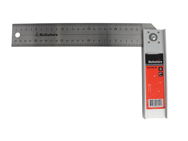 Hultafors Quattro Adjustable Try Square 250mm (10in) HULQUATTRO25