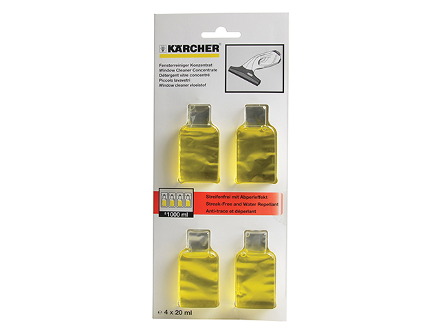 Karcher Glass Cleaning Sachets (4x20ml) KAR62953020