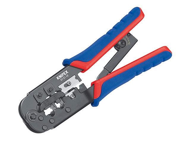 Knipex Crimping Pliers for RJ11/12 RJ45 Western Plugs KPX975110