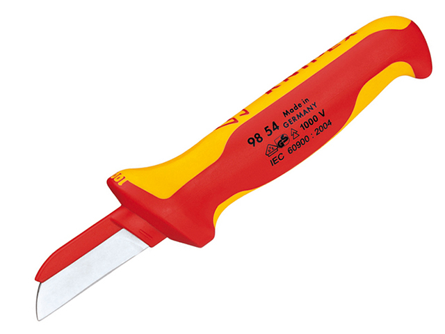 Knipex 98 54 VDE Cable Knife (Back of Blade Insulated) KPX9854