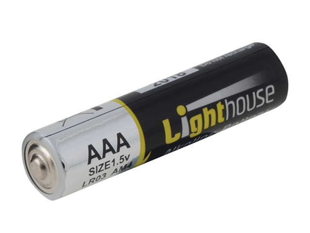 Lighthouse Alkaline Batteries AAA LR03 1120mAh Pack of 4 L/HBATAAA