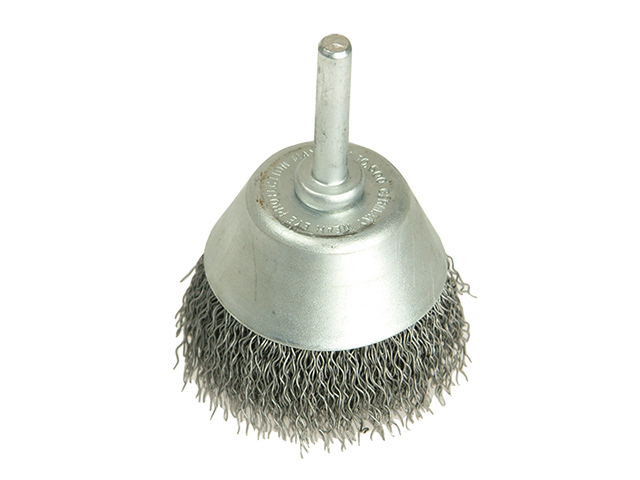 Lessmann Cup Brush with Shank D70mm x 25h x 0.30 Steel Wire LES437162