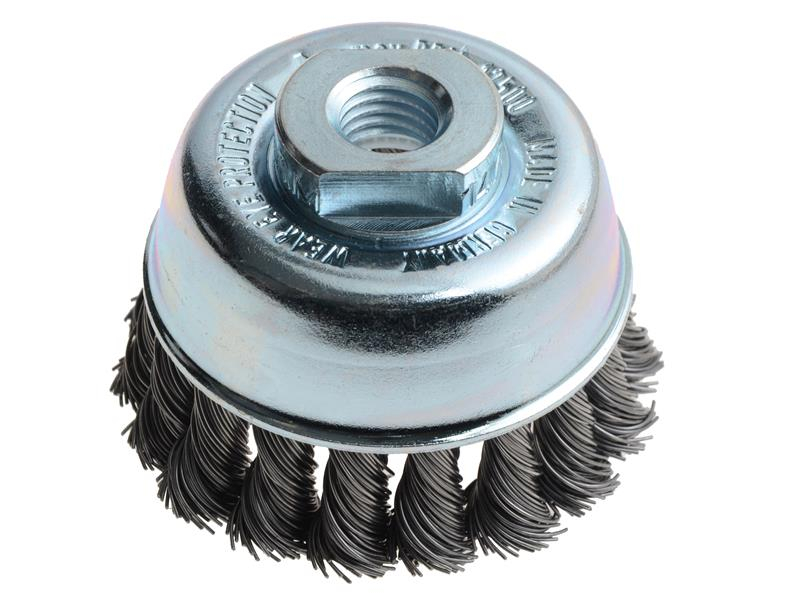 Lessmann Knot Cup Brush 65mm M14 x 0.50 Steel Wire LES482217