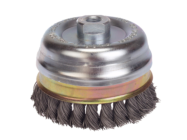 Lessmann Knot Cup Brush 65mm M14 x 20 x 0.50 Stainless Steel Wire LES482817