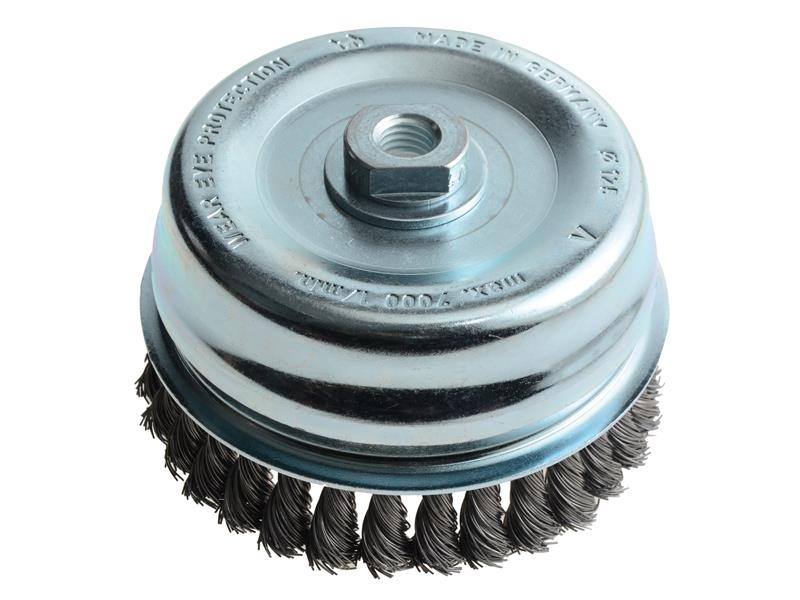 Lessmann Knot Cup Brush 125mm M14 x 0.50 Steel Wire* LES487217