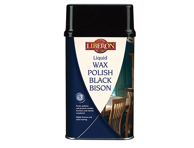 Liquid Wax Polish Black Bison Georgian Mahogany 500ml
