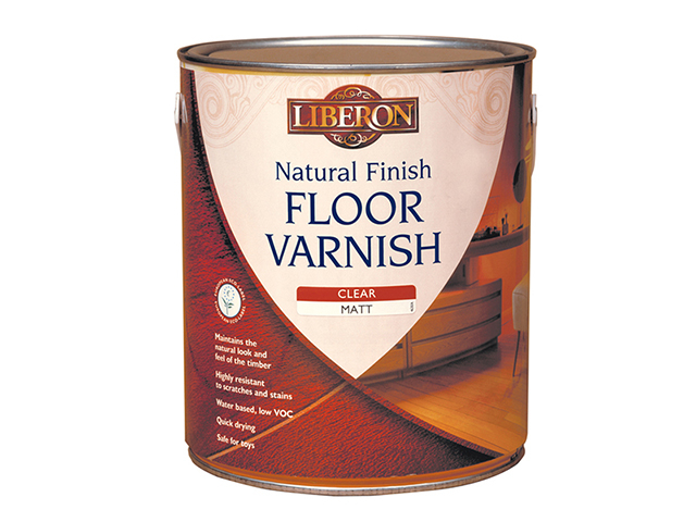 Liberon Natural Finish Floor Varnish Clear Matt 2.5 Litre LIBFVWNCM25L