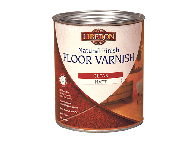 Liberon Natural Finish Floor Varnish Clear Satin 2.5 Litre LIBFVWNCS25L