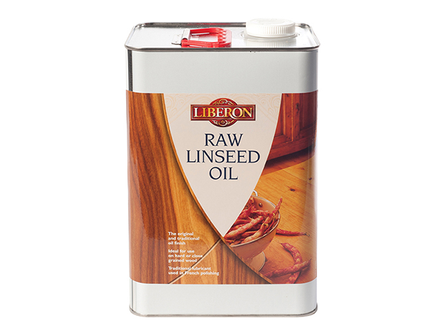 Liberon Raw Linseed Oil 5 litre LIBRLO5L