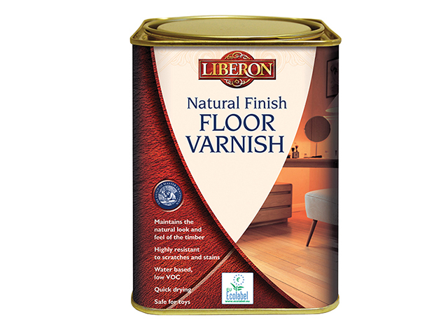 Liberon Natural Finish Floor Varnish Clear Satin 1 Litre LIBVWNCS1L