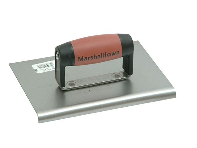 Marshalltown M120D Cement Edger Straight End Durasoft Handle 8 x 6in M/T120D