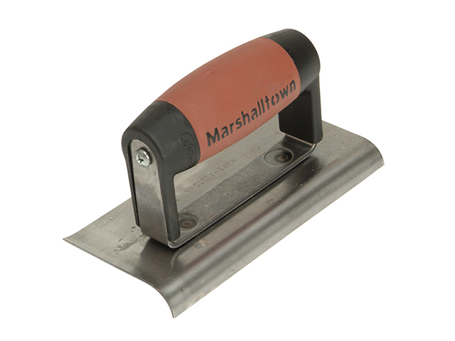 Marshalltown 176D Cement Edger Curved & Straight End DuraSoft® Handle 6 x 3in M/T176D