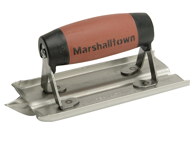 Marshalltown M180D Stainless Steel Groover Trowel DuraSoft® Handle 6 x 3in M/T180D