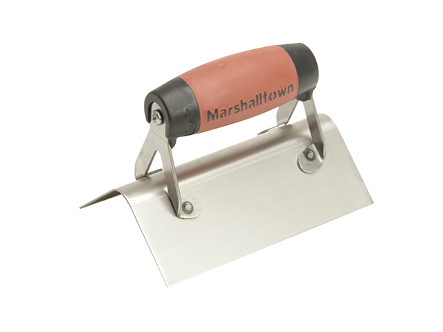 Marshalltown 68SSD Stainless Steel External Corner Trowel Rounded DuraSoft® Handle M/T68SSD