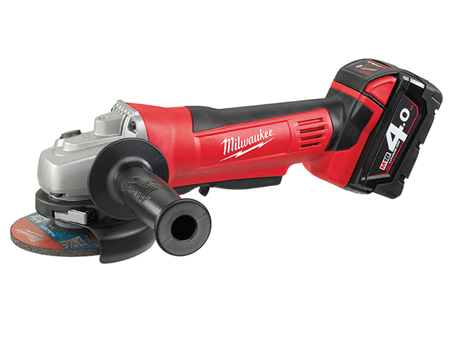 Milwaukee Power Tools HD18 AG-402 Angle Grinder 115mm 18V 2 x 4.0Ah Li-ion MILHD18AG4