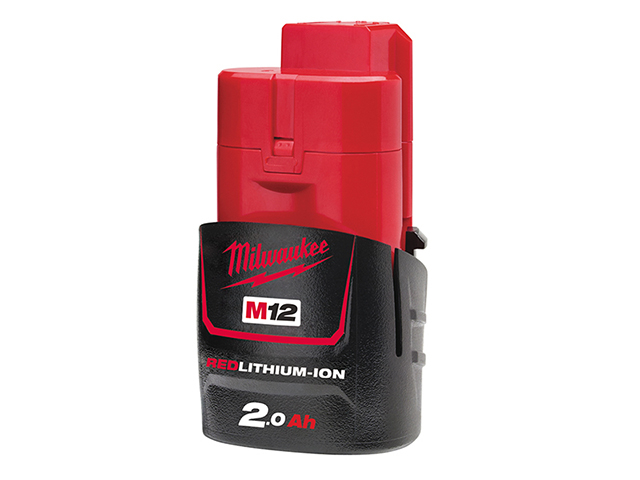 Milwaukee Power Tools M12 B2 REDLITHIUM-ION<sup>(TM)</sup> Battery 12V 2.0Ah Li-ion MILM12B2