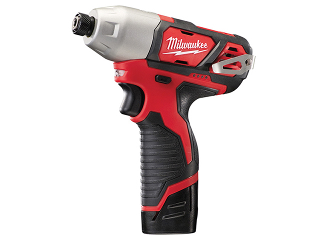 Milwaukee Power Tools M12 BID-202C Sub Compact 1/4in Impact Driver 12V 2 x 2.0Ah Li-Ion MILM12BID2