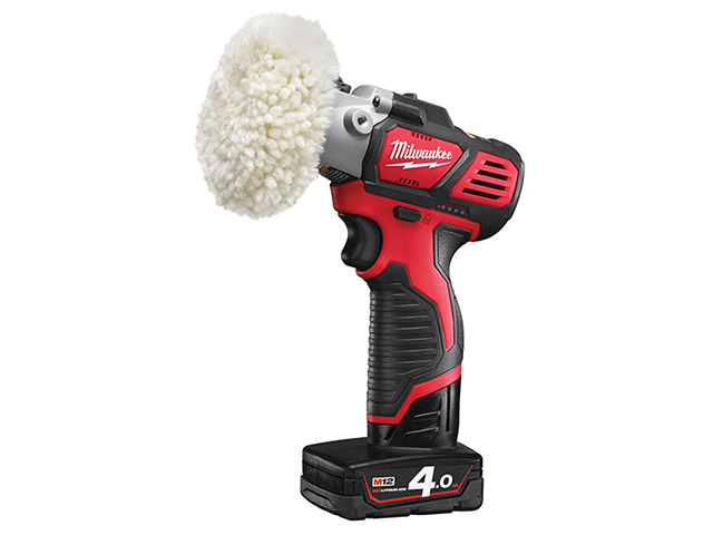 Milwaukee Power Tools M12 BPS-421X Cordless Sander/Polisher 12V 1 x 4.0Ah/1 x 2.0Ah Li-ion MILM12BPS