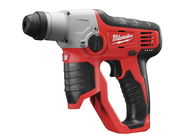 Milwaukee Power Tools M12 H-0 Compact Cordless SDS 2 Mode Hammer 12V Bare Unit MILM12H0