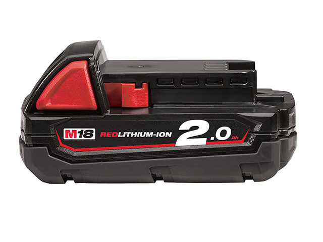 Milwaukee Power Tools M18 B2 REDLITHIUM-ION<sup>(TM)</sup> Slide Battery Pack 18V 2.0Ah Li-ion MILM1