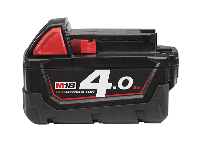 Milwaukee Power Tools M18 B4 REDLITHIUM-ION<sup>(TM)</sup> Slide Battery Pack 18V 4.0Ah Li-ion MILM1