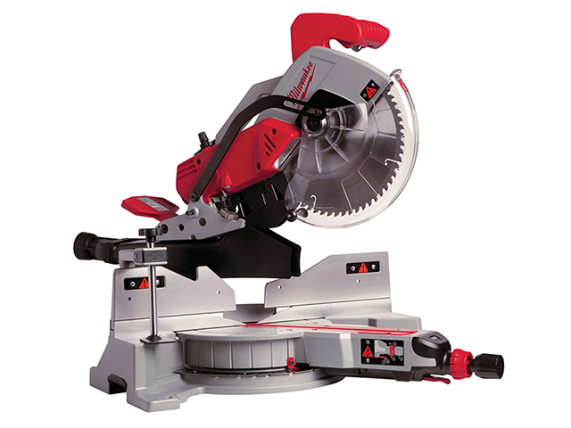 Milwaukee Power Tools MS 305 DB Sliding Compound Double Bevel Mitre Saw 300mm 1800W 110V MILMS305DBL
