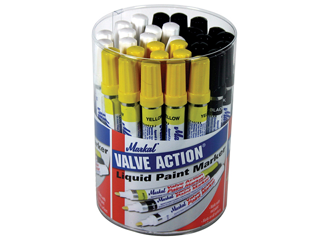 Markal Valve Action Paint Marker (Tub of 24) MKL96080