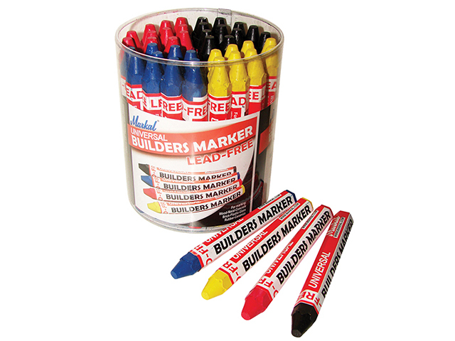 Markal Builder's Marker (Tub of 48) MKL96081