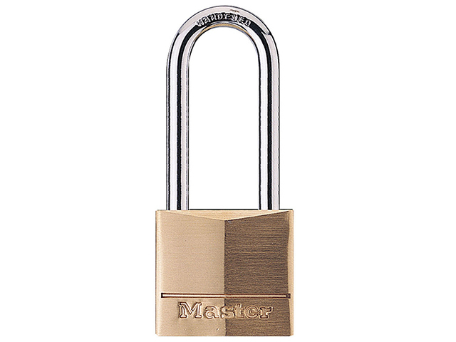 Solid Brass 40mm Padlock 4-Pin - 51mm Shackle