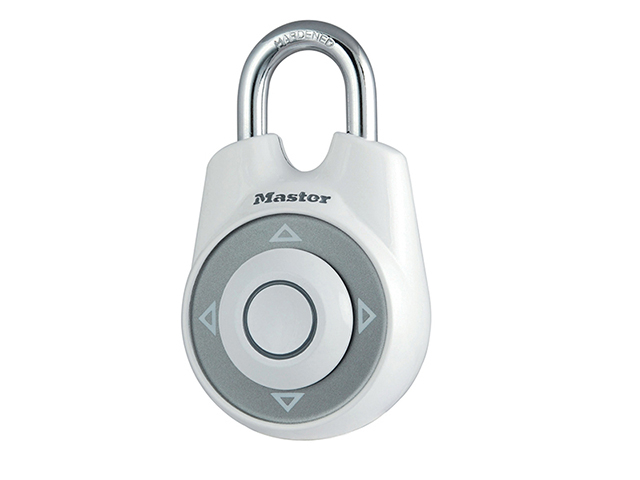 Master Lock One<sup>(TM)</sup> Directional Movement Combination 55mm Padlock - White MLK1500IWHI