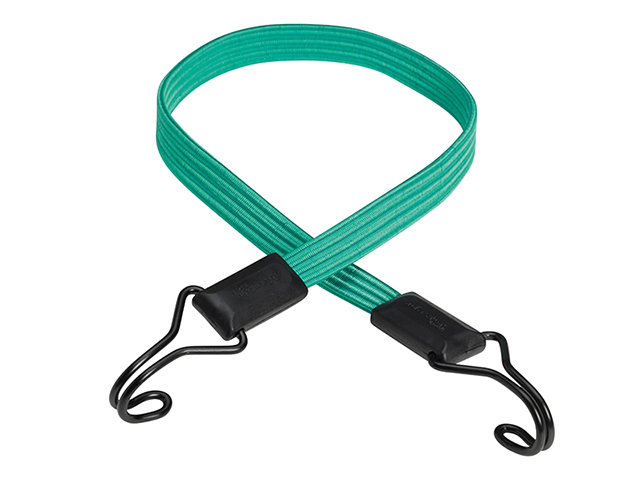 Master Lock Flat Bungee 80cm Green Double Hook MLK3225E