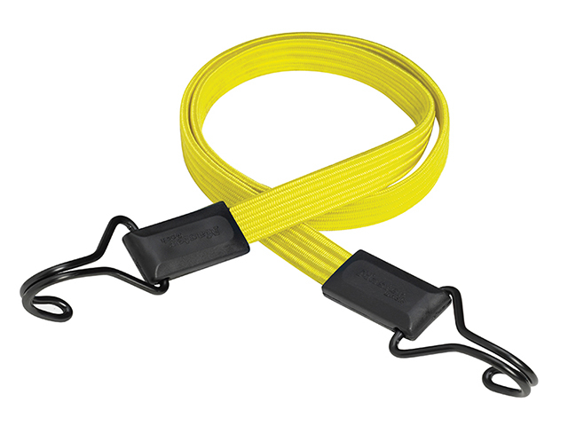 Master Lock Flat Bungee 100cm Yellow Double Hook MLK3226E