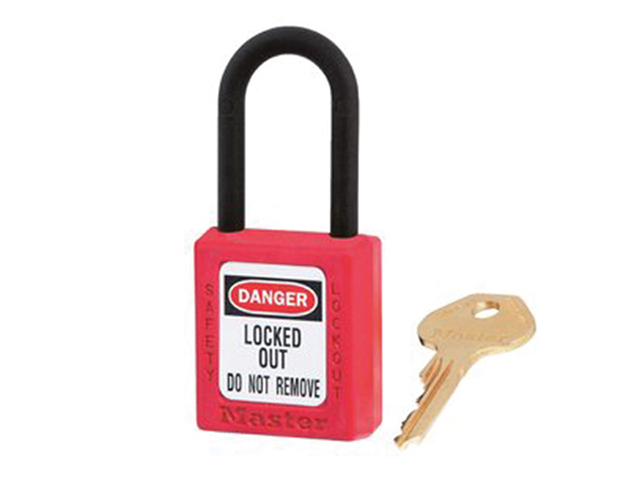 Master Lock Lockout Padlock - 38mm Body & 6mm Composite Nylon Shackle MLKS406RED