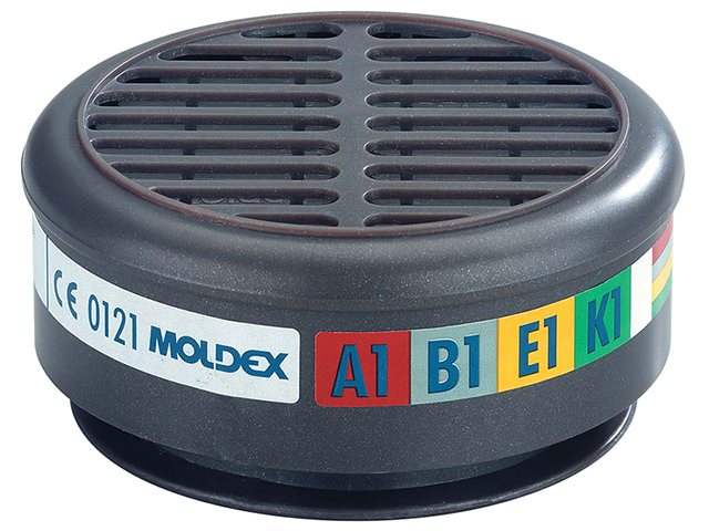 Moldex ABEK1 Gas Filter For 8000 Half Mask (Wrap of 2) MOL890001