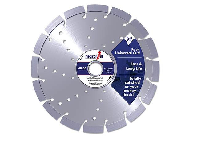 Marcrist Mi750 Diamond Blade Long Life Universal Cut 115 x 22.2mm MRC750115