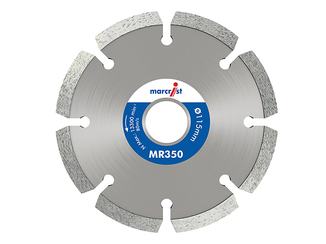 Marcrist MR350 Trade Mortar Rake Diamond Blade 115 x 22.2mm MRCMR350115