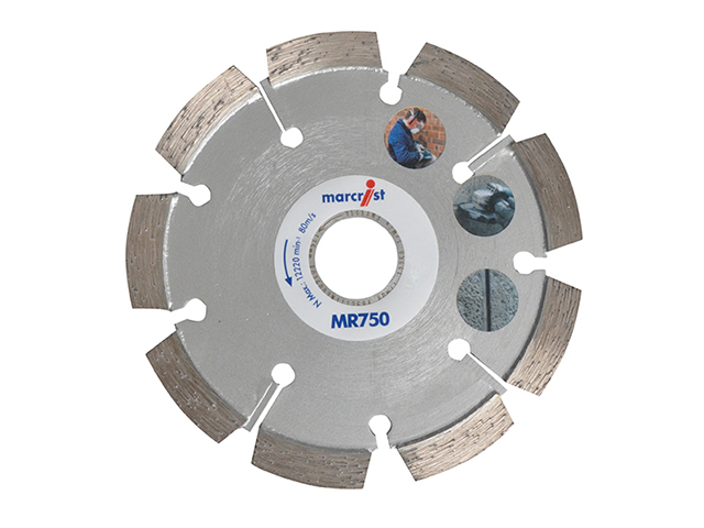 Marcrist MR750 Mortar Raking Diamond Blade 115 x 22.2 x 6mm MRCMR750115