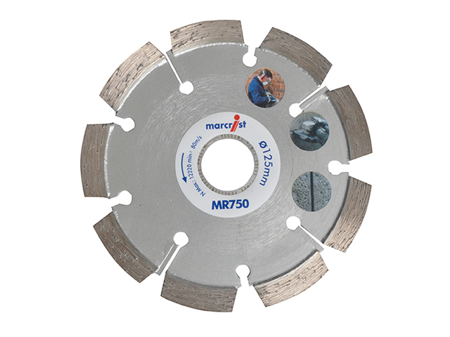 Marcrist MR750 Mortar Raking Diamond Blade 125 x 22.2 x 6mm MRCMR750125