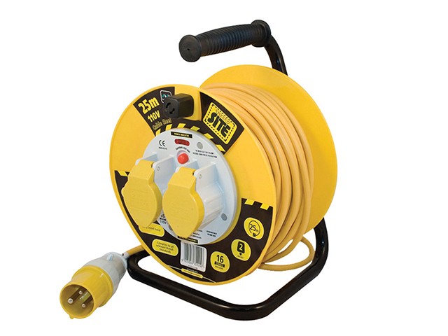 Masterplug Cable Reel 25m 16A 110V Thermal Cut-Out MSTLVCT25162
