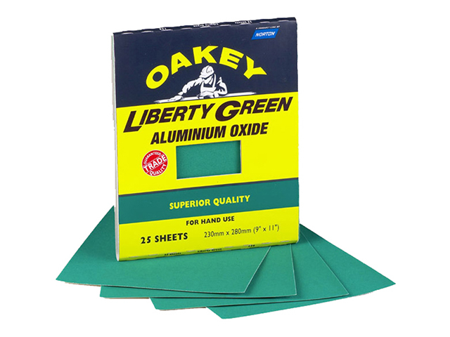 Oakey Liberty Green Aluminium Oxide Sheets 230 x 280mm Assorted (3) OAK84727