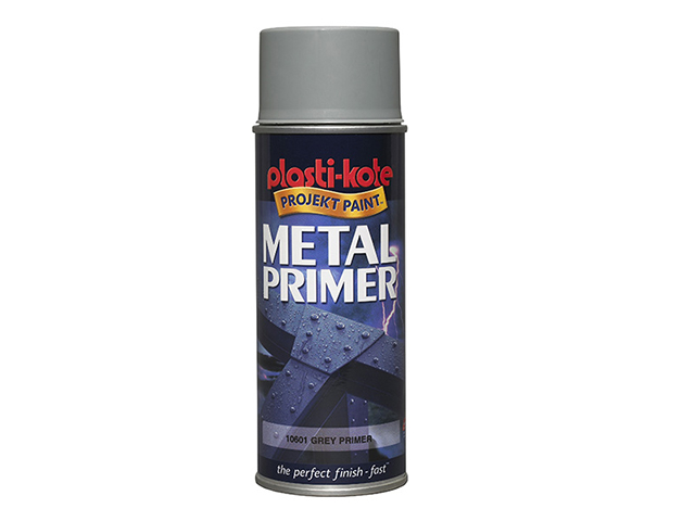 PlastiKote Metal Primer Spray Grey 400ml PKT10601