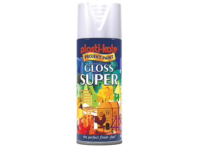 Super Gloss Spray White 400ml