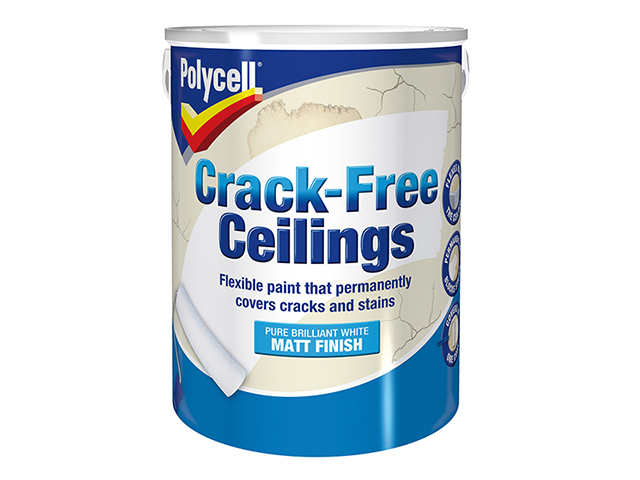 Polycell Crack-Free Ceilings Smooth Matt 5 Litre PLCCFCSM5L