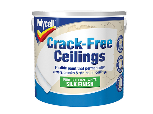 Polycell Crack-Free Ceilings Smooth Silk 2.5 Litre PLCCFCSS25L