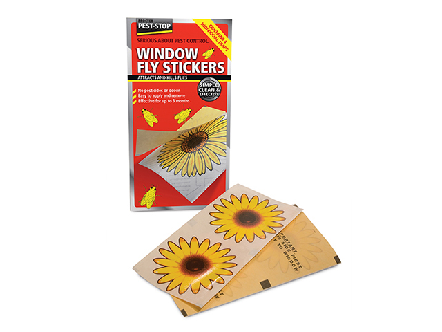 Pest-Stop Systems Window Fly Stickers Pack of 4 PRCPSWFS