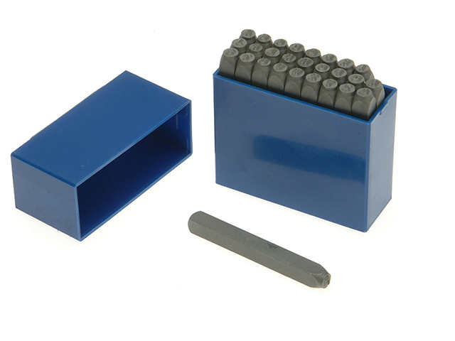 Priory 181- 10.0mm Set of Letter Punches 3/8in PRIL38