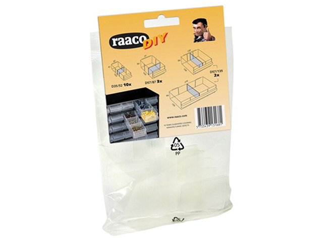 Raaco Mixed Bag Of Cabinet Drawer Dividers RAA131681