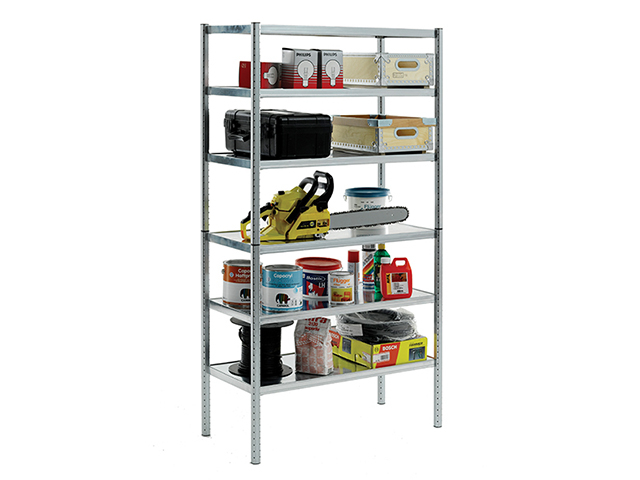 Raaco S450-31 Galvanised Shelving with 6 Shelves RAA135573