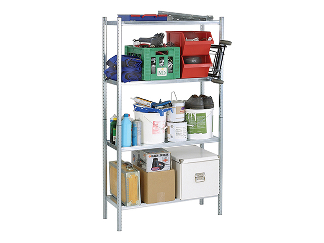 Raaco S450-31 Galvanised Shelving with 4 Shelves RAA135580